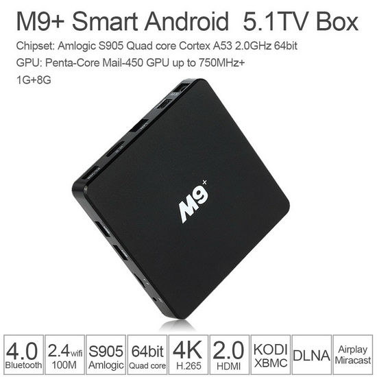 Latest M9+ Amlogic S905 TV Box Firmware Download Android Lollipop 5.1.1